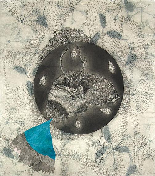 2015_Elizabeth D'Agostino_Deer with Podsack_detail